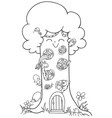 fairy tree vector image
