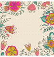 Frame floral background Retro flowers made in vector image