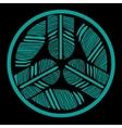 Ornamental round feathers mandala tatoo design vector image