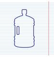 Plastic bottle silhouette sign navy line vector image