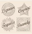 retro design sunburst radiant starburst for vector image