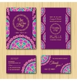 Save the date and RSVP cards Wedding invitation vector image