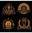 Set of vintage gold badge logo and design vector image