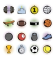 Sports comics icons vector image