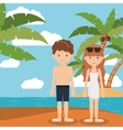 summer vacations in family design vector image