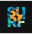surf lettering typography poster print on vector image