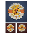 warranty term fabric badge vector image vector image