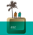 Escape Palm Tree couple vector image vector image
