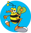 Childrens book Wasp vector image vector image