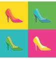 Pop art shoes vector image vector image