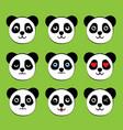 panda face expressions vector image