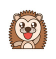 porcupine baby animal kawaii design vector image