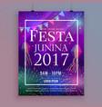 festa junina party celebration flyer design with vector image