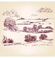Landscape sketch drawing vector image