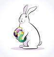 rabbit easter 2 vector image