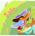 shoes sale vector image