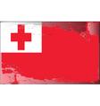 tonga national flag vector image vector image