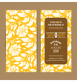 Wedding invitation card floral yellow vector image vector image