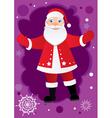 greetings from santa vector image vector image