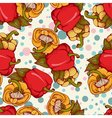 seamless pattern with bulgarian peppers vector image