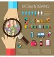 Bacteria Infographics Set vector image