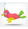 Funny Monster Diver vector image