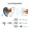 loundspeaker charts vector image