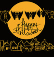 Minimalist Halloween with bats vector image