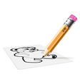 pensil hb bear vector image