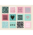 Set of 12 creative art cards Hand Drawn textures vector image