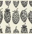 hop beer seamless pattern vector image