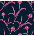 Vintage floral seamless pattern with peonies vector image