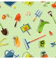 Seamless pattern with garden sticker design vector image