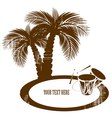 coconut palm trees vector image