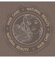 Face hair and text Hair Care Natural Beauty vector image
