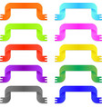 Colorful bright ribbons vector image