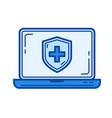 antivirus line icon vector image