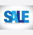 blue sale sign vector image