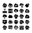 Cloud Computing Icons 5 vector image