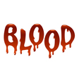 Inscription blood vector image