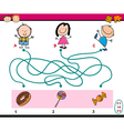 labyrinth puzzle educational task vector image