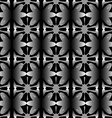 pattern floral seamless on black background vector image