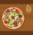 pizza background retro design vector image