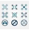 Quadrocopter flat icons set vector image