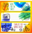 Set of coffee and tea vintage banners vector image