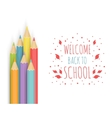 The school background vector image