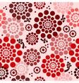 Seamless floral background in red vector image