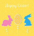 easter paper decoration in the form of bunny and vector image