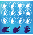 set of hand icons vector image vector image