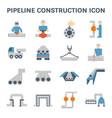 pipeline construction icon vector image